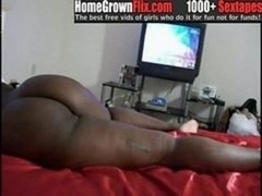 Huge booty jamaican loves dick from the back - HomeGro