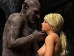 3D Captive Girls Gangbanged by Evil Orcs!