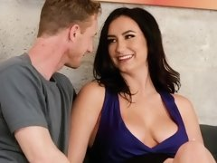 Busty brunette has tough sex during audition