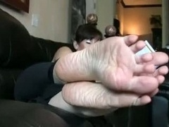 Adorable mature eager mom feet