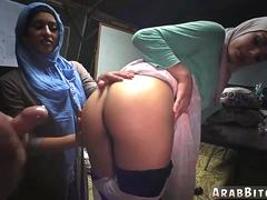 Girl strips for money and french arab algerian Sneaking in the Base