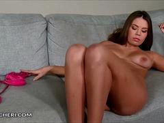 Bonnie Shai Plays With Her Shaved Pussy