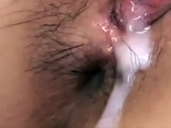 Japanese pussy creampie sex compilation