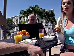 Teen girlfriend fucks in bedroom after pool