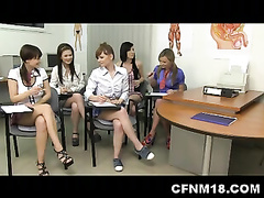 Anatomy teacher accepts his cfnm penalty