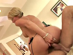 dp threesome with a dick loving blonde
