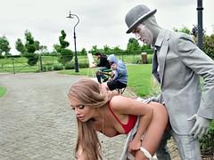 Grosse titten, Blondine, Bekleidet, Hardcore, Im freien, Öffentlich, Russisch