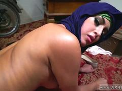Busty arab milf and tight arab pussy Took a splendid Refugee home