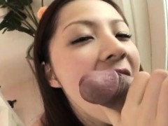 First experience in hard modes for Rika Koizumi hairy snatch