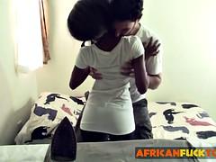 Beautiful ebony babe shanice gets fucked hard and deep