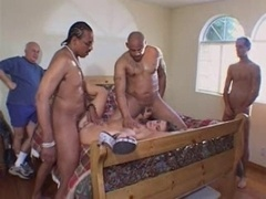 Attractive wife fucked by 2 legend stars - husband jerks