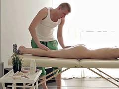 Pretty Teen Banged During Massage