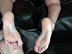 Beautiful Blonde gets her perfect feet worshipped