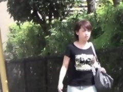 Asian piss in carpark