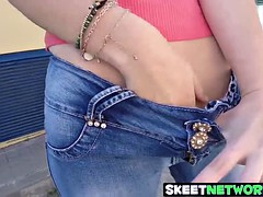 Freaky teen Zoe Doll loves having wild sex in the street