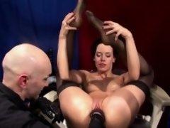 Hot German brunette loves masturbating and having her pussy