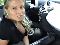 car blowjob - who is this girl