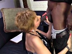 Hot cougar Gemma More Offers Anal Sex To Black Man