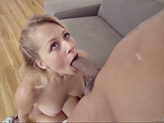 blonde zoey monroe gets her throat fucked by bbc