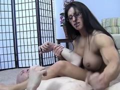 Angela Salvagno tells her slave Toughen up