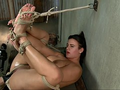 chunky slave whore penny barber cums hard on master's mighty fist
