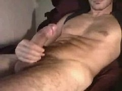 Hot Muscle Guy Working On His Big Phallus