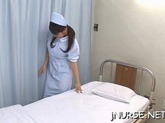 Asiatique, Sucer une bite, Hard, Infirmière