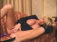 Hot blonde Mom i`d like to fuck finger and furthermore squirt