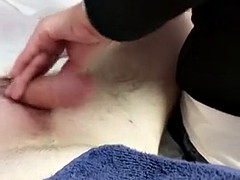 Asian lady waxing and massaging make dick cum