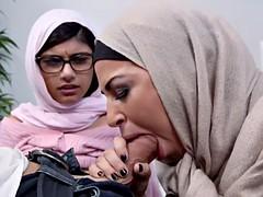 arab bitches enjoy the threesome