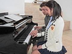 Mixte, Collège université, Mignonne, Innocente, Élève, Étudiant, Adolescente, Uniforme