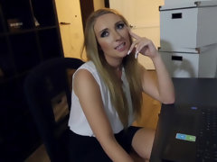 Harley Jade gets on her knees for a hot and steamy CFNM fuck