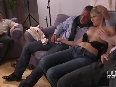 Cuckold group action with skinny babe Choky Ice