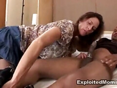 Clothed Mom Steamy Enjoys A Big Black Dick In Her Twat