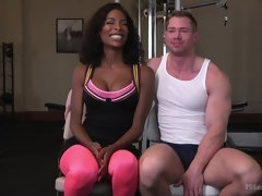 Natassia Dreams pumps her cock deep into muscle boys hungry asshole!