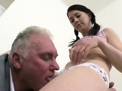 Diminutive titted whore banged hard