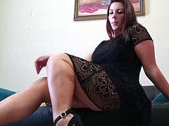 leg adore JOI while waiting for Interview