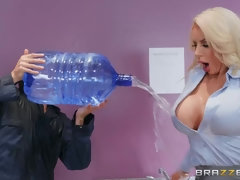 Blonde Nicolette Shea is the hottest co-worker in the world.