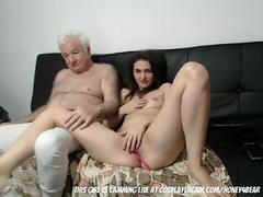 Amateur, Grandpère, Masturbation, Mature, Adolescente, Webcam