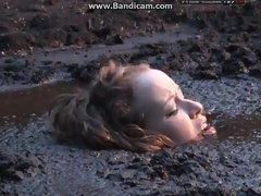 Swamp Of Mud Fetish Scene Featuring Two Dully Young Women