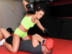 Sweet sporty brunette Adriana Chechik adores hardcore anal sex