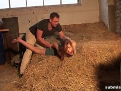Anouk overpowered hogtied mouth-stuffed